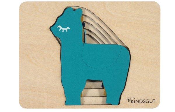Kindsgut Tier-Puzzle Lama